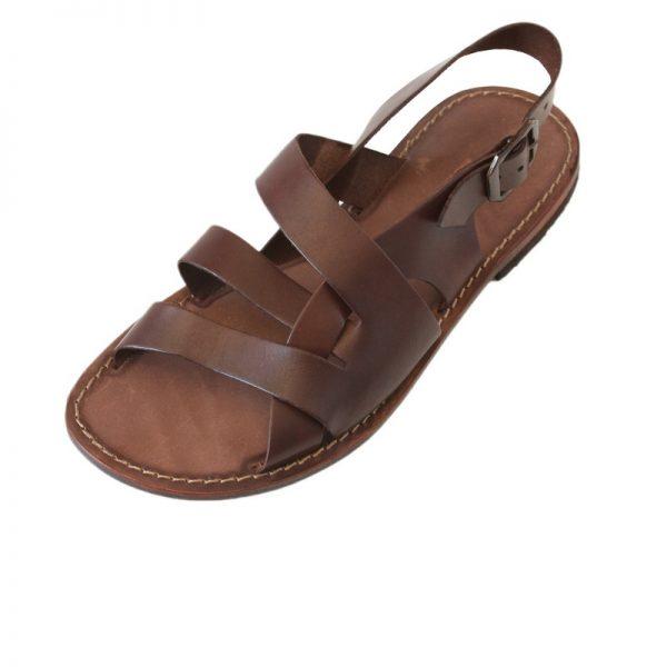 Sandalo chiuso dietro Spartacus marrone da uomo