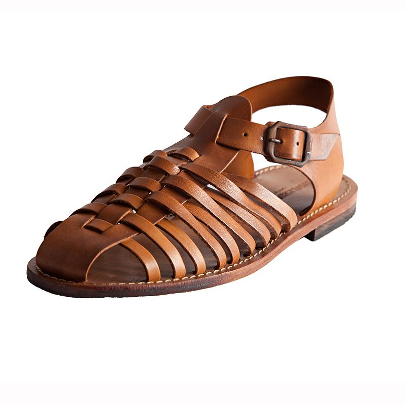 Sandalo chiuso dietro Tipo cognac da uomo