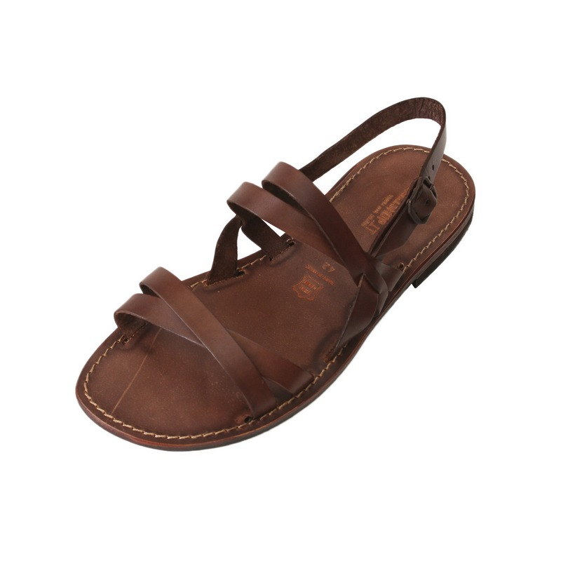 Sandalo chiuso dietro Ulisse marrone da uomo