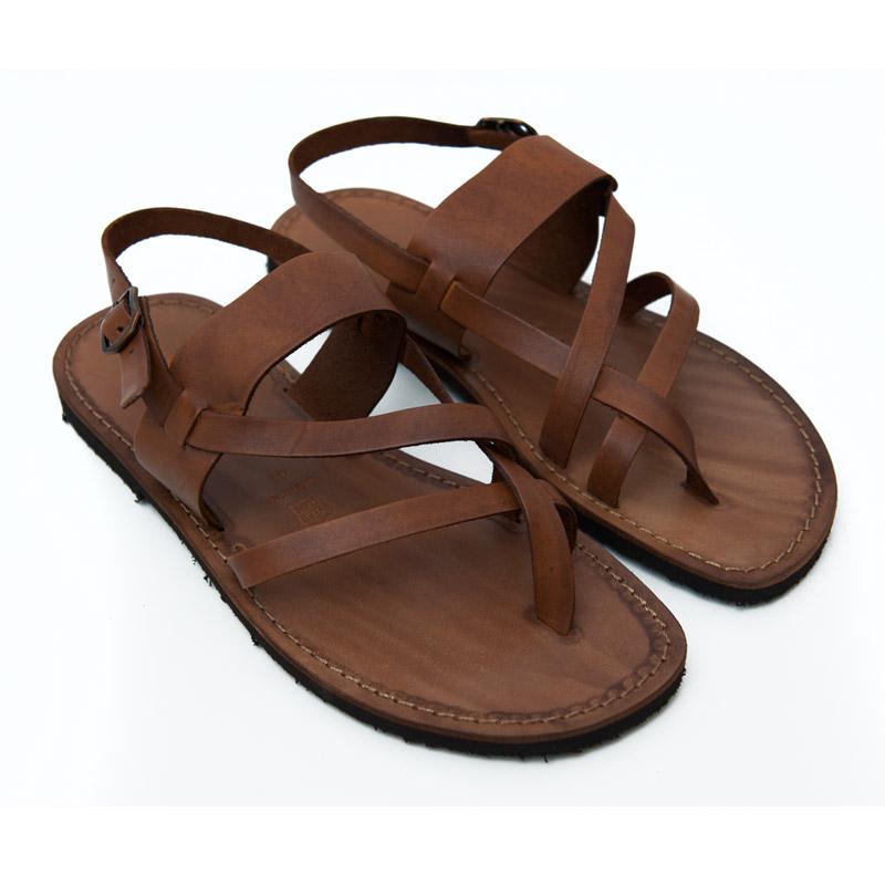 Sandalo chiuso dietro Zinzulusa cognac da uomo