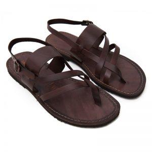 Sandalo chiuso dietro Zinzulusa marrone da uomo