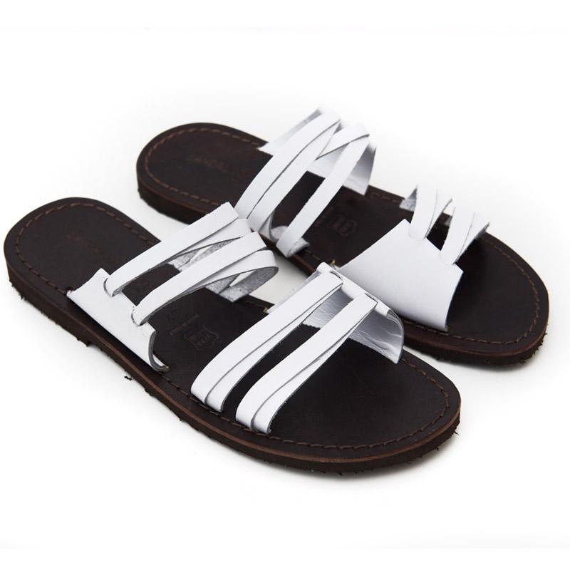 Sandalo ciabatta Gallipoli bianco da donna