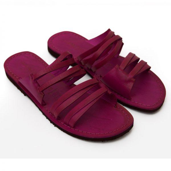 Sandalo ciabatta Gallipoli fuxia da donna