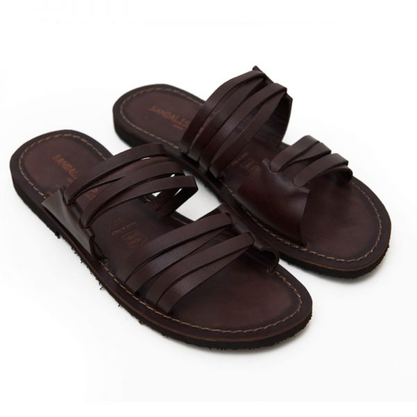 Sandalo ciabatta Gallipoli marrone da donna