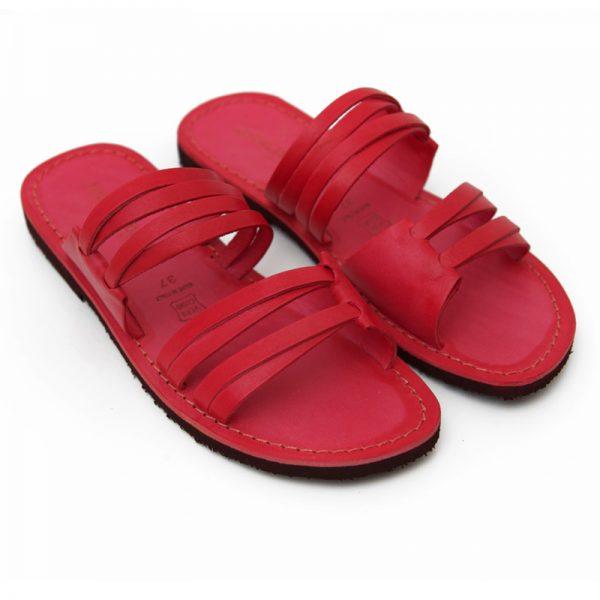 Sandalo ciabatta Gallipoli rosso da donna
