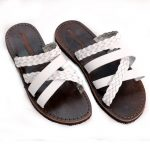 Sandalo ciabatta Otranto bianco da donna