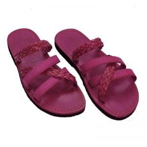 Sandalo ciabatta Otranto fuxia da donna