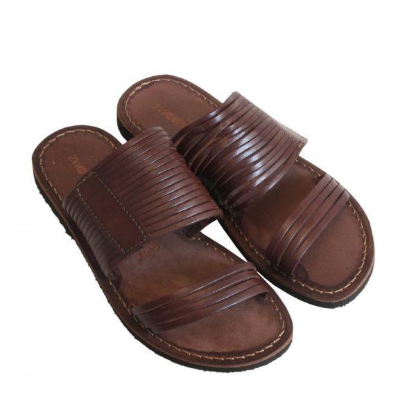 Sandalo ciabatta Tenerife marrone da donna