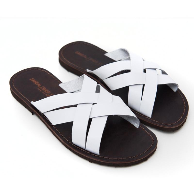 Sandalo ciabatta Chidro bianco da uomo