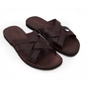 Sandalo ciabatta Chidro marrone da uomo