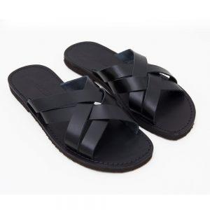 Sandalo ciabatta Chidro nero da uomo