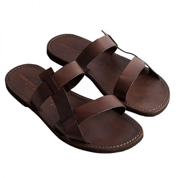 Sandalo ciabatta Francescano marrone da uomo