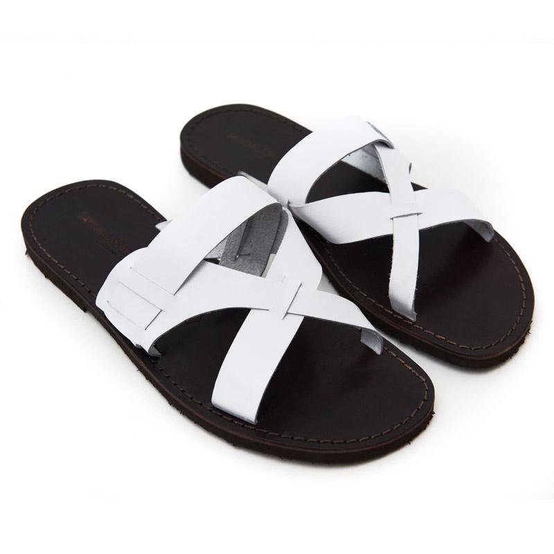 Sandalo ciabatta Turne bianco da uomo