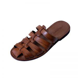 Sandalo ciabatta Tuscany cognac da uomo