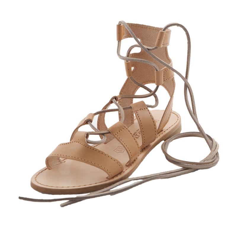 Sandalo schiava Ave caramello da donna