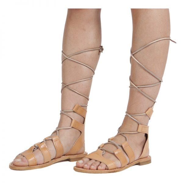sandali-cuoio-gladiatore-donna-Ave-caramello-2