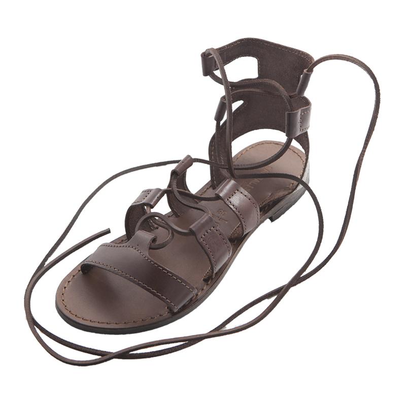 Sandalo gladiatore Ave marrone da donna