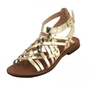 Sandalo gladiatore First oro da donna