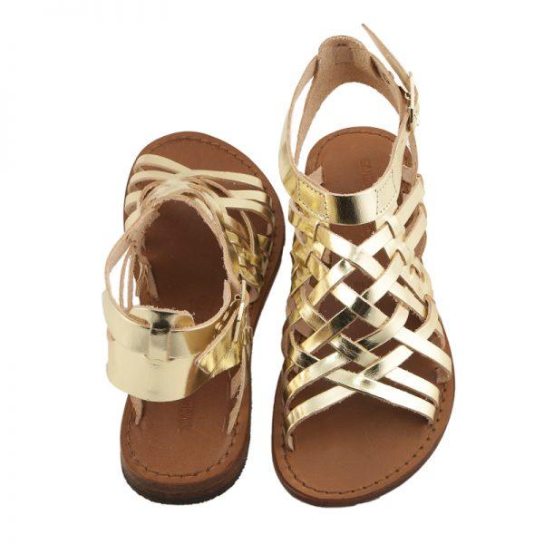 sandali-cuoio-gladiatore-donna-First-oro-2
