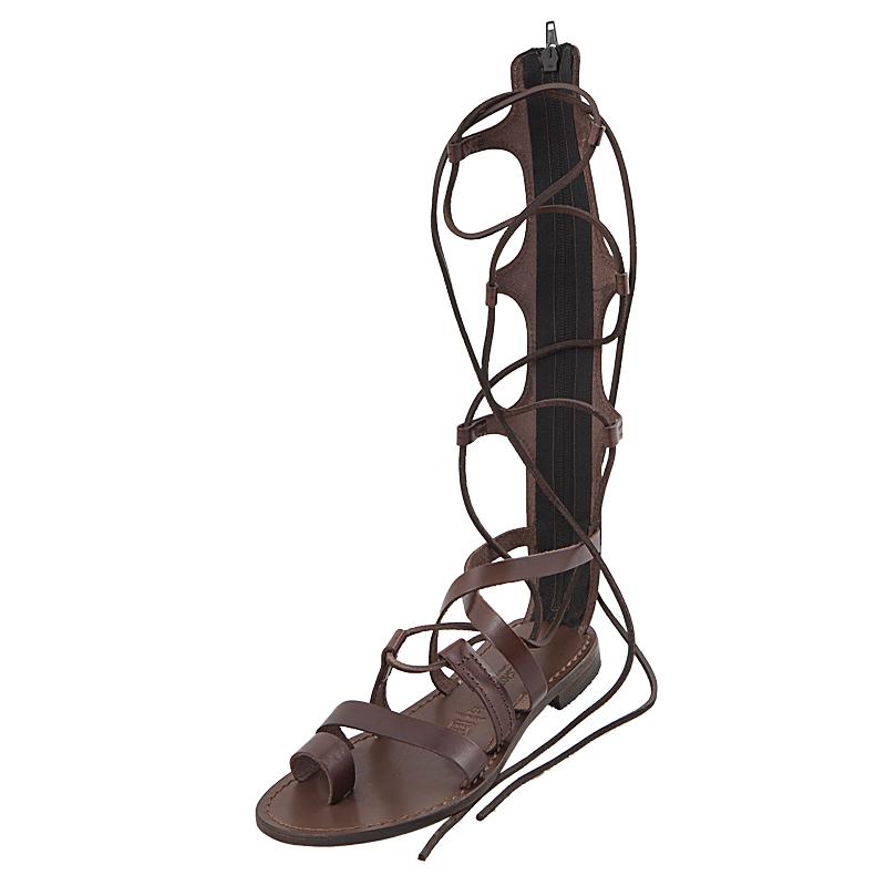 Sandalo schiava Ines marrone da donna