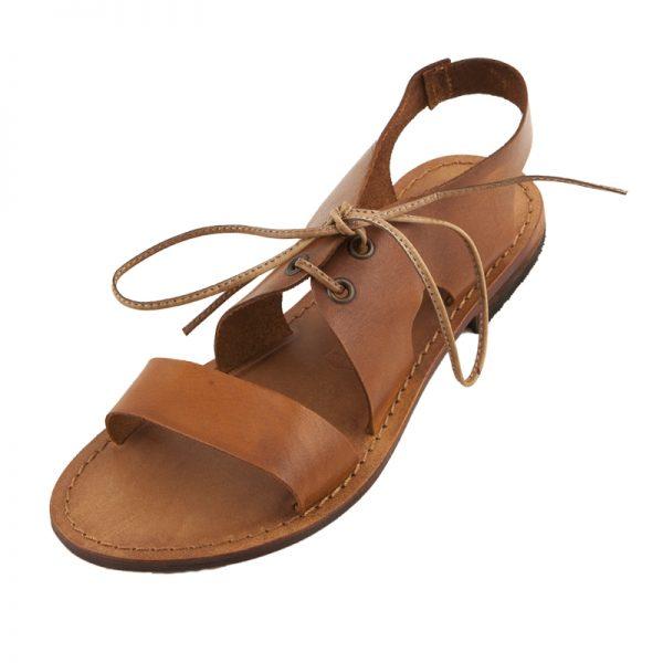 Sandalo gladiatore Scarpetta cognac da donna