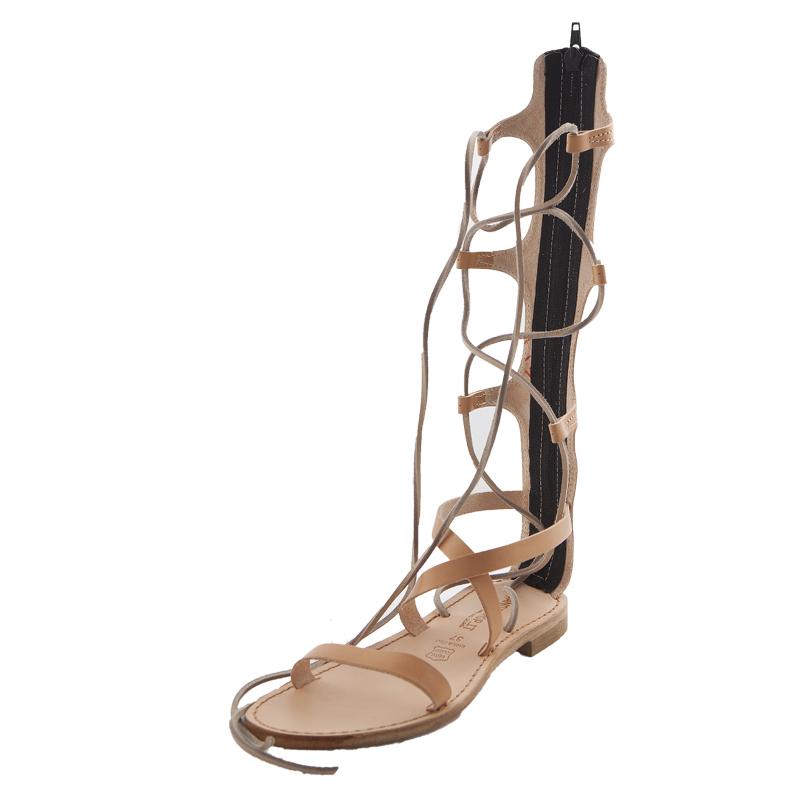 Sandalo gladiatore Valentina caramello da donna