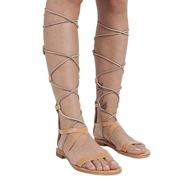 sandali-cuoio-gladiatore-donna-Valentina-caramello-2