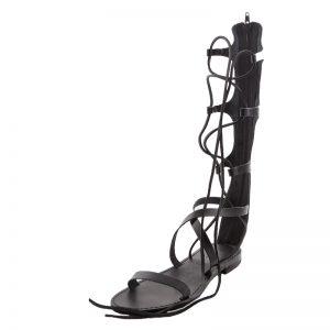 Sandalo gladiatore Valentina nero da donna