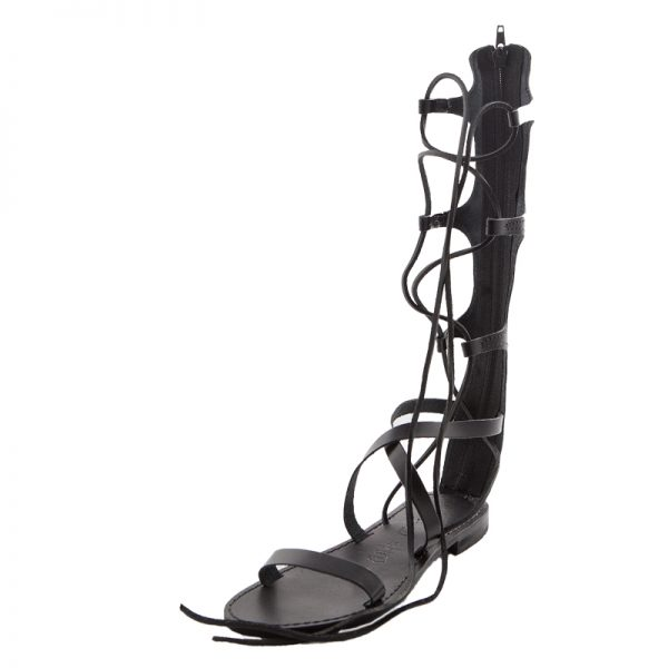 52e0b94b62a2 ... Women s Valentina Gladiator sandals in Black. Sandalo gladiatore  Valentina nero da donna
