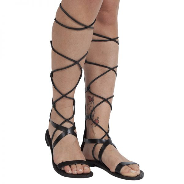 sandali-cuoio-gladiatore-donna-Valentina-nero-2