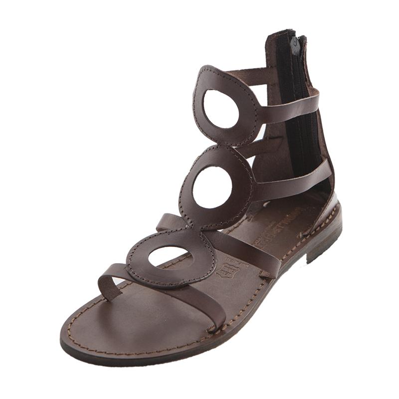 Sandalo gladiatore Cecilia marrone da donna