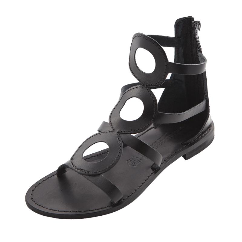 Sandalo gladiatore Cecilia nero da donna