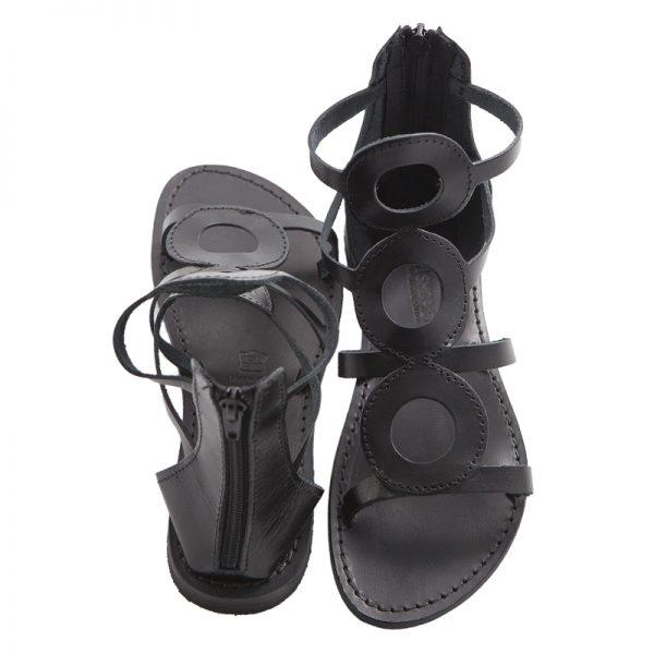 sandali-cuoio-gladiatore-donna-cecilia-nero-2