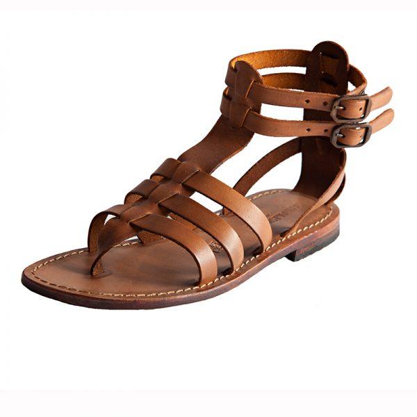 Women's Fashion Gladiator sandals in Cognac