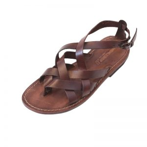 Sandalo gladiatore Firenze marrone da donna