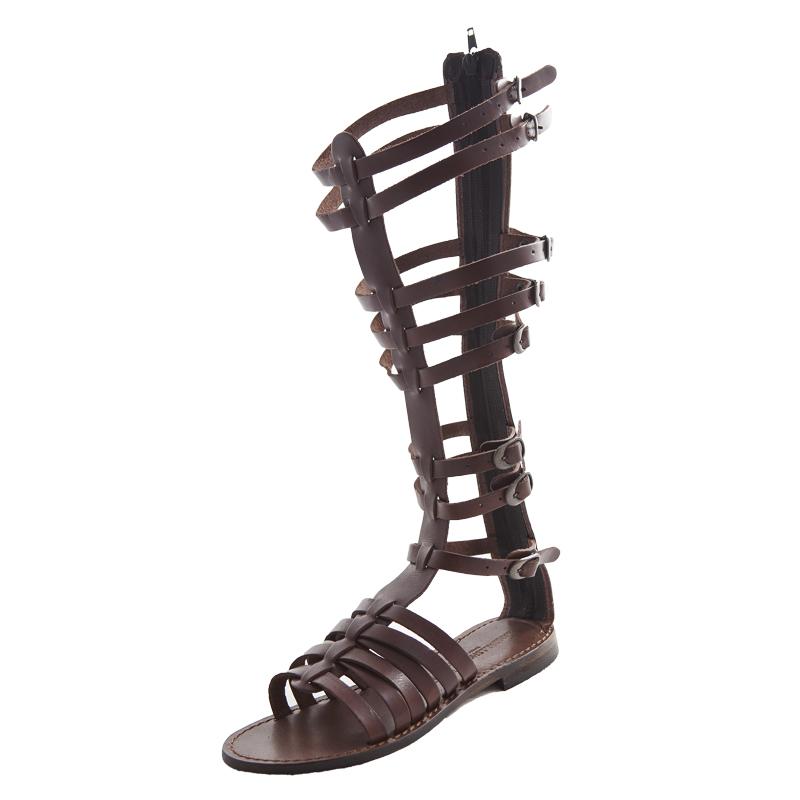 Sandalo gladiatore Gloria marrone da donna