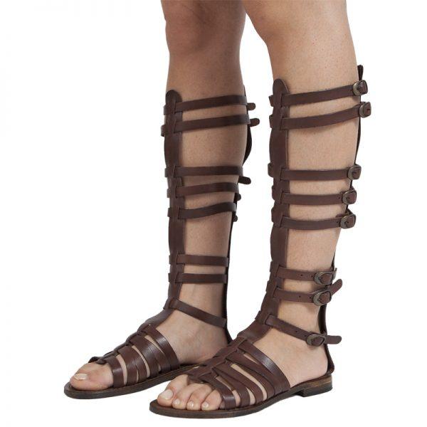 sandali-cuoio-gladiatore-donna-gloria-marrone-2