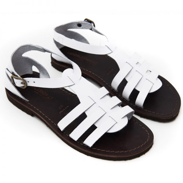 Women's Leverano Gladiator sandals in White