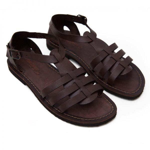 Sandalo gladiatore Leverano marrone da donna
