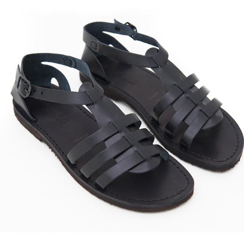 Sandalo gladiatore Leverano nero da donna