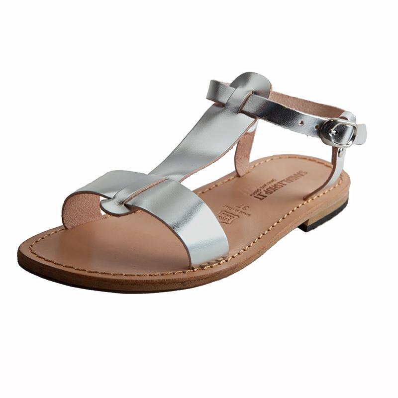 Sandalo gladiatore Star argento da donna