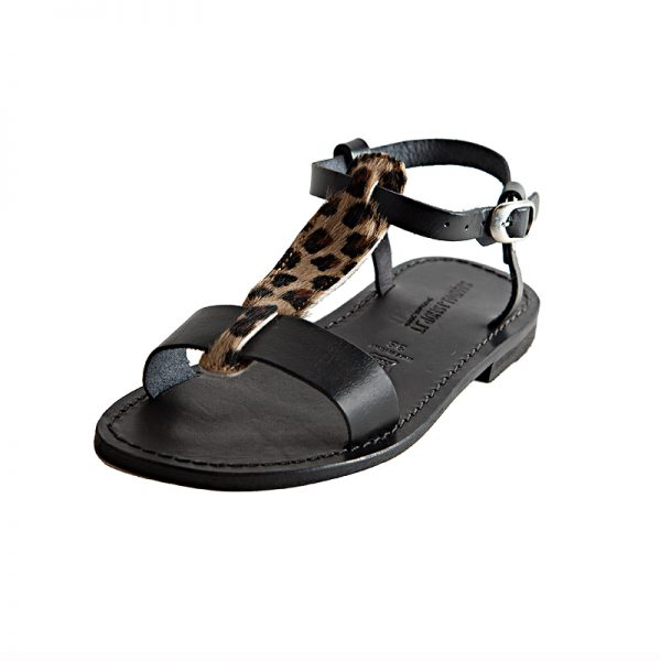 Women's Star Gladiator sandals in Black