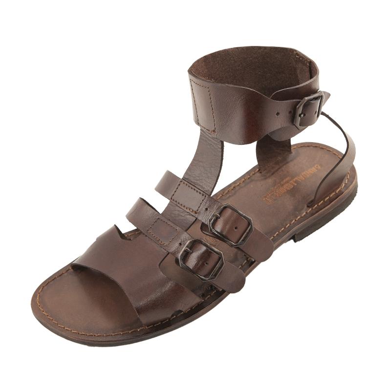 Sandalo gladiatore Macho marrone da uomo