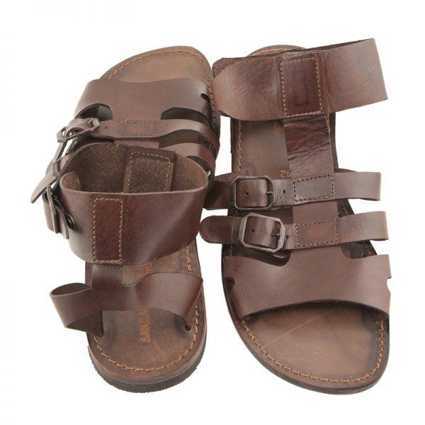 sandali-cuoio-gladiatore-uomo-Macho-marrone-2