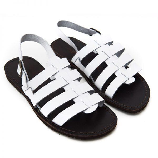Sandalo gladiatore Ciak bianco da uomo