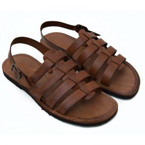 Sandalo gladiatore Ciak cognac da uomo