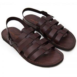 Sandalo gladiatore Ciak marrone da uomo
