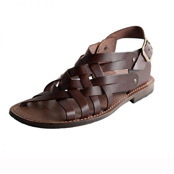 Sandalo gladiatore Essenza marrone da uomo