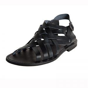 Sandalo gladiatore Essenza nero da uomo