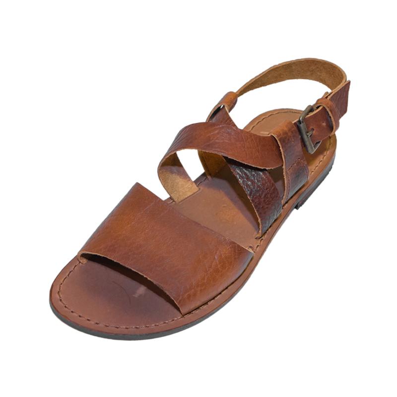 Sandalo gladiatore Fratellanza cognac da uomo